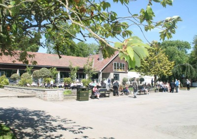 Hazelhead Park Cafe outside seating